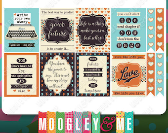 Typography Quote Planner Sticker Kit for your Erin Condren Life Planner, Happy Planner, or any daily planner!