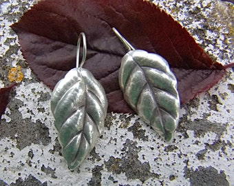 Silver earrings. Silver jewelry. Ethnic jewelry.