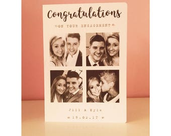 Engagement Card / Congratulations on your engagement / Personalised Card / Photo Card