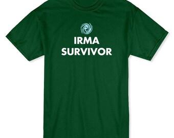 Irma survivant Miami Hurrican hommes forêt T-shirt vert