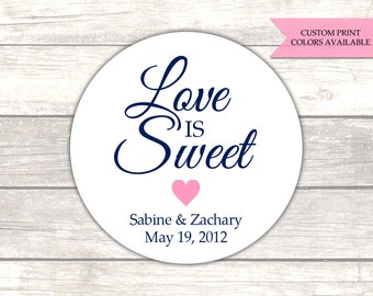 Love is sweet stickers - Wedding favor stickers - Wedding stickers - Wedding labels (RW006)