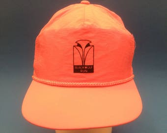 Vintage Blackwolf Run Golf Course Trucker Snapback Hat 1980s Neon Pink Luxury Wisconsin