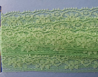 Vintage Lace Trim  Lime Green Lace Chartreuse Lace  5/8 inch wide,  6.25 yards 1950s