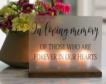 Wedding Memorial Sign - In Loving Memory Wedding Sign - Acrylic Wedding Sign - Memorial Candle - Memory Wedding Decor - Wedding Luminary & Memorial candle   Etsy