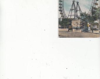La Grande Roue Paris France Antique Postcard-Giant Ferris Wheel C1910s-Unused