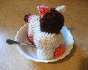 Neapolitan kitten / Mythical kittens / crochet cat plushy / yummy kitty