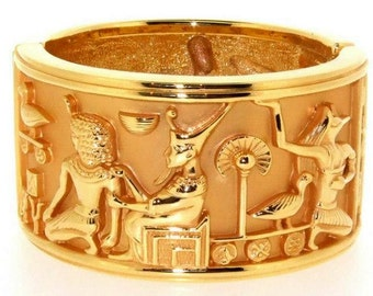 Egyptian Bracelet by Elizabeth Taylor for Avon Gold
