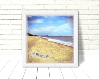 Live & Let Live: AA Original Download Artwork, Alcoholics Overeaters Narcotics Anonymous Motto, Coastal Scene, Recovery Anniversary, NA OA