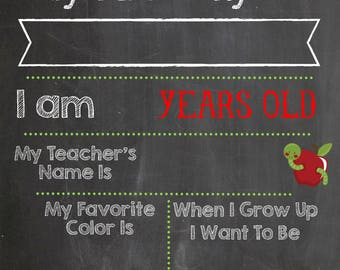 First Day of School Printable 11x17