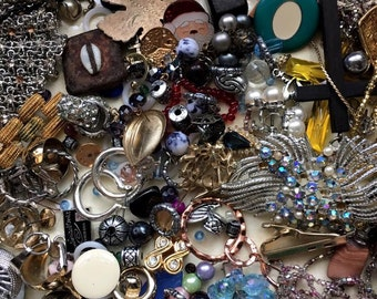 Jewelry bracelets - necklaces- rings - parts -pieces broken earrings jewelry