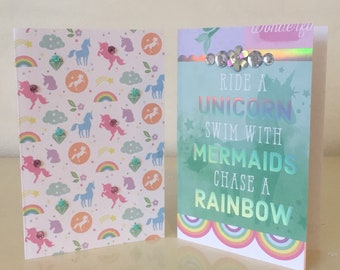 Magical Collection, greeting cards, blank cards, stationary, paper crafting, special occasion, unicorns, mermaids, rainbows
