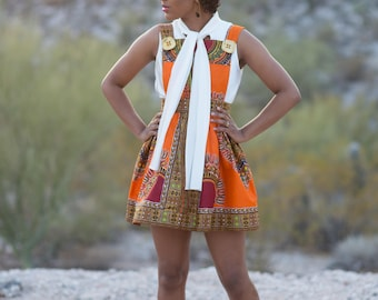 Dashiki Jumper Dress