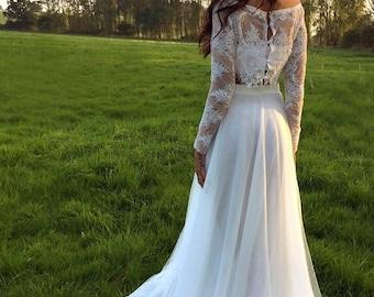 Boho / Hippy / Woodland / Beach / Rustic Wedding / Vintage Inspired / Wedding Dress / 'Hamia'