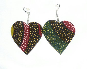 "Ankara earrings ""love"""