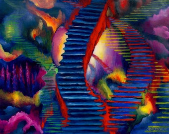 Stairways Prints from Orginal Acrylic on Canvas