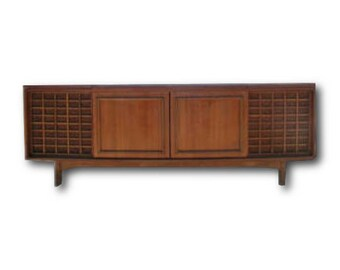 Morse Mid Century Stereo Console with New Turntable | BLUETOOTH | Modern Electronics | 200 watt AMP | New Turntable