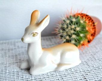 Deer Bambi Figurine, animal figurine, Kitsch Fawn Deer, ceramic porcelain, woodland zoo forest, Christmas deer, china figure, fairy tale