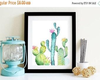 13% OFF SALE- PRINTABLE Art Succulent Print Cactus Printable Succulent Wall Print Cactus Decor Cactus Wall Art Desert Print Cactus Modern Pr