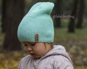 Hat beanie Knit hat Stylish hat Toddler Hats Gift Baby Fashionable baby hat