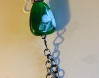 little irish lassie necklace lampwork pearls crystals