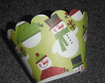 Snowman Cupcake Wrappers   Set of 12