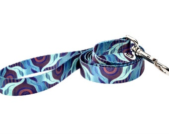 Aqua Flora Fashion Dog Leash - 5ft. Made From Recycled Webbing