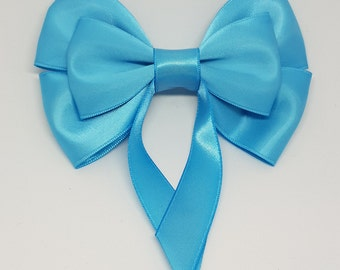 Aqua Blue Swallow Tail Hair Bow