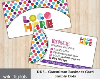 Dot Dot Smile Consultant Business Card, Simply Dots Design, Customized Business Card, Direct Sales, Fashion Consultant