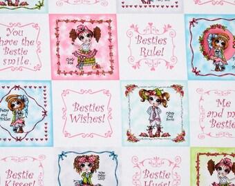 Besties Fabric Panel