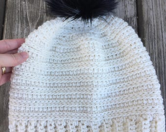 Snowy Day Toque and Messy Bun - Crochet Pattern