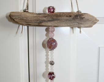 Driftwood door decoration and glass beads, mother's day, Mothers' Day