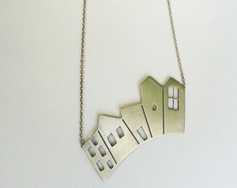 City necklace - modern - minimalist - houses