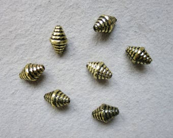 Antique gold CCB resin beads