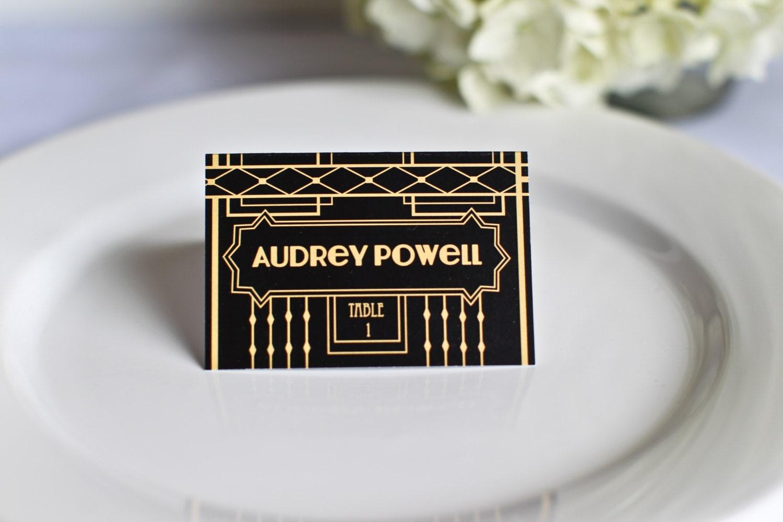 Art Deco Gatsby Place Cards Wedding Custom Customize Escort