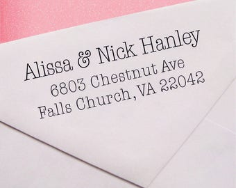 Personalized rubber stamp - self inking stamp - boho wedding address stamp - A11