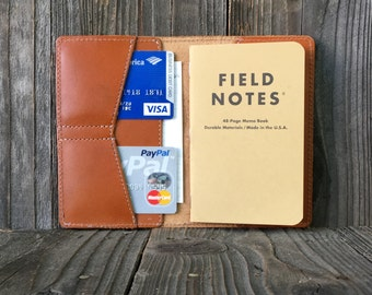 Field Notes Leather Cover - Journal Cover - MC Tan