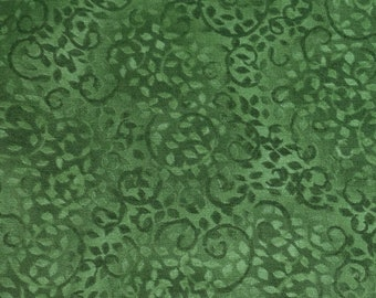 Green Leaves & Vines Quilt Cotton Fabric - Green Tone On Tone Blender Fabric By The Yard - Compliments - South Seas Imports #25-09