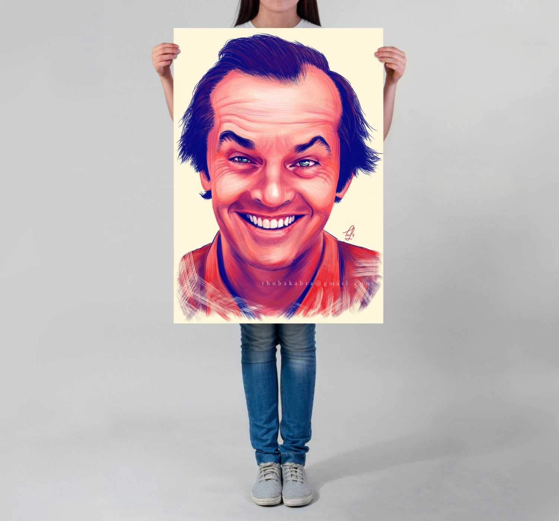 Jack Nicholson LARGE wall ART print Nicholson digital