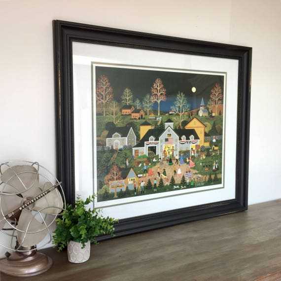 Jane Wooster Scott - Folk Artist - American Folk Art - Lithograph Print - Country Wall Art - Large Art Print - Americana Art