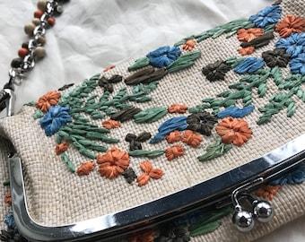 Re-Trippy Floral Clutch