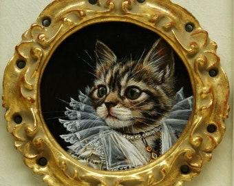 """Acrylic painting """"The Kitten aristocrat"""""""