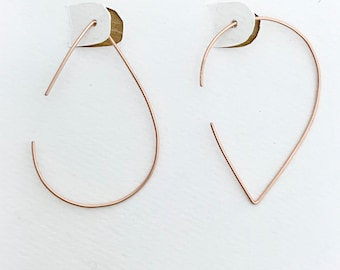 Pear Shaped Hoops *Choice of color