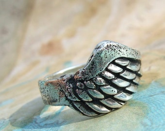 Rustic Gift for Men, Mens Ring, Eco Friendly Jewelry Gift for Men, Recycled Silver Mans Ring gift, Custom Sizes  6 7 8 9 10 11 12 13 14 15