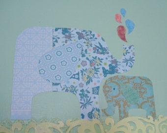 Moving Sale Medium Elephant Canvas Art