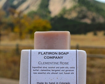 Clementine Rose - Soap, Handmade Soap, Cold Process Soap, All Natural Soap, Homemade Soap