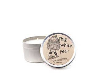 Ginger Ale Soy Candle- 6 Ounce Tin