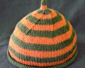 Pattern, Rolled Brim Baby with Stripes and Point