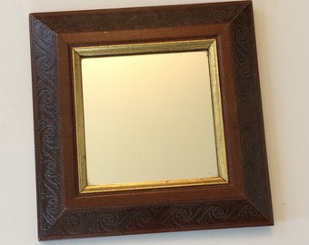 Vintage Carved Wooden Wall Mirror / Home Interiors Gifts