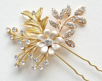 Wedding Hair Pin, Gold Bridal Hair Pin, Wedding Hair Accessory