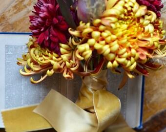 dusty yellow goldenrod velvet ribbon